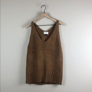 Universal Thread Brown Knit Tank (Large)